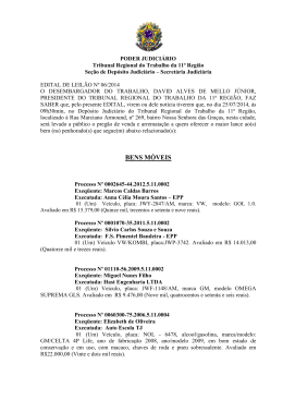 EDITAL DE LEILÃO 06.rtf - Tribunal Regional do Trabalho da 11ª