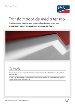 Transformador de média tensão - Requisitos importantes aplicáveis