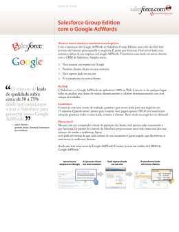 Salesforce Group Edition com o Google AdWords