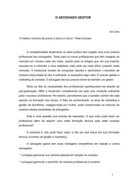 O ADVOGADO GESTOR - rkladvocacia.com