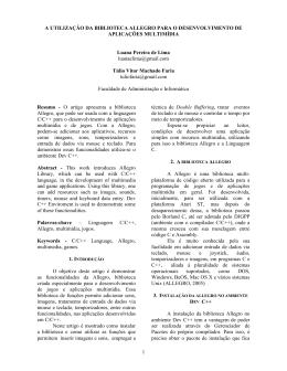 A Utilização da Biblioteca Allegro para o Desenvolvimento de