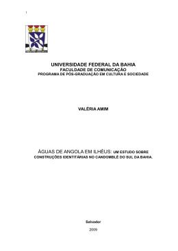 Valéria Amim - RI UFBA - Universidade Federal da Bahia