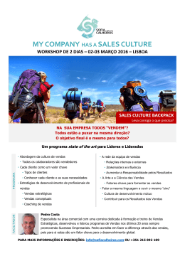 my company has a sales culture