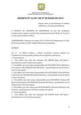 decreto nº 16.307, de 07 de julho de 2015