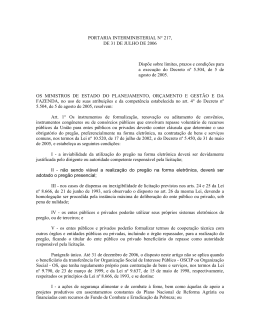 PORTARIA INTERMINISTERIAL N° 217,
