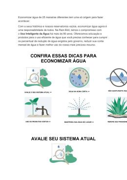 Economizar água de 25 maneiras diferentes