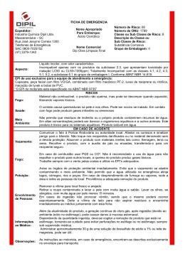 Ficha de Emergência - Indústria Química Dipil