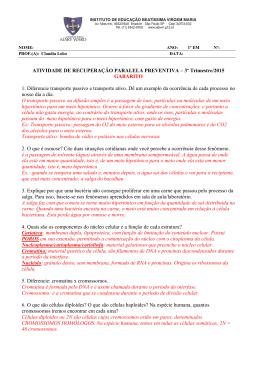 ATIVIDADE DE RECUPERAÇÃO PARALELA PREVENTIVA – 3º