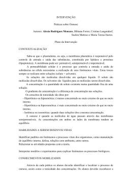 Práticas sobre Osmose – Alexia Rodrigues Menezes
