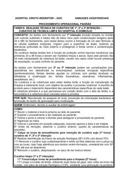 POP CURATIVO TÉCNICA LIMPA - Grupo Hospitalar Conceição