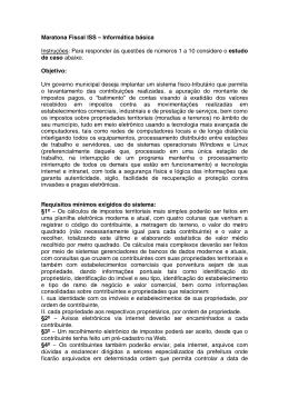 Documento Maratona Fiscal ISS: Informática básica