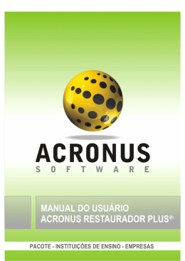 Manual Acronus Restaurador Plus 2