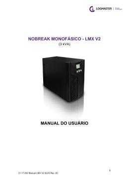 NOBREAK MONOFÁSICO - LMX V2 MANUAL DO USUÁRIO