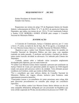 REQUERIMENTO Nº , DE 2011