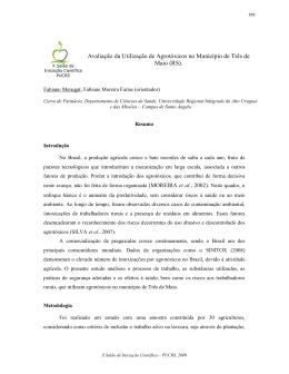 Avaliação da Utilização de Agrotóxicos no Município de Três de Maio