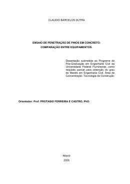 claudio barcelos dutra - Pós-graduação em Engenharia Civil