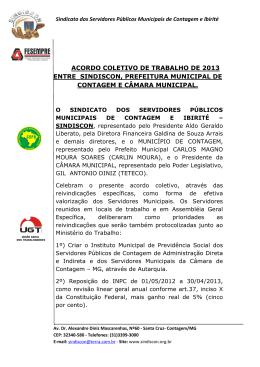 acordo coletivo de trabalho de 2013 entre sindiscon, prefeitura