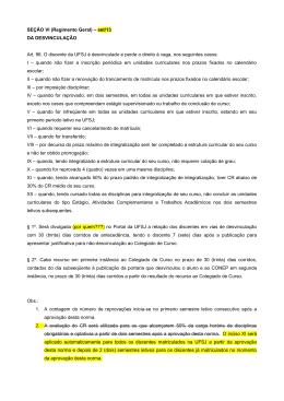 SEÇÃO VI (Regimento Geral) – set/13 DA