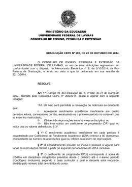 Resolução CEPE Nº 295, de 22 de outubro de 2014