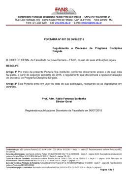 portaria nº 007 – 2015 programa disciplina dirigida