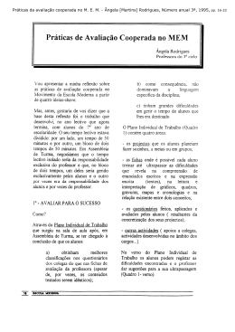Ângela [Martins] Rodrigues, Número anual 3ª, 1995, pp. 16-22