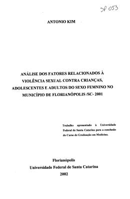 ANTONIO KIM z ANÁLISE DOS FATORES RELACIONADOS À