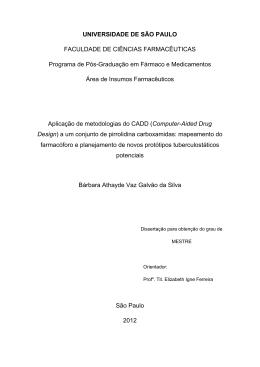 Aplicação de metodologias do CADD (Computer