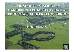 SANEAMENTO BÁSICO DA BACIA HIDROGRÁFICA DO RIO DOS