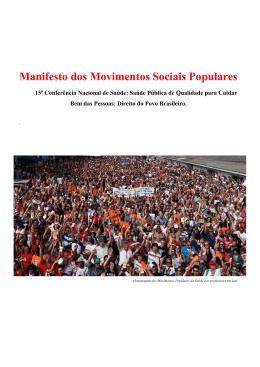 Manifesto dos Movimentos Sociais Populares