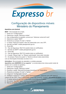 Ministério do Planejamento - Mobilidade Expresso