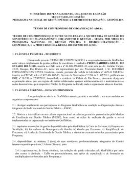 MINISTÉRIO DO PLANEJAMENTO, ORÇAMENTO E