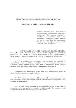 Portaria MPOG 026/2011