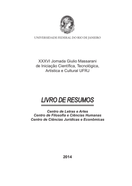 Área de Ciências Humanas e Sociais - PR2-UFRJ