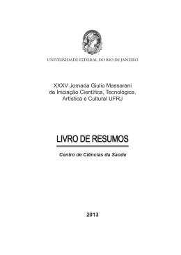 Área de Ciências da Vida - PR2-UFRJ