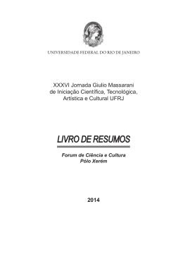 LIVRO DE RESUMOS - PR2-UFRJ