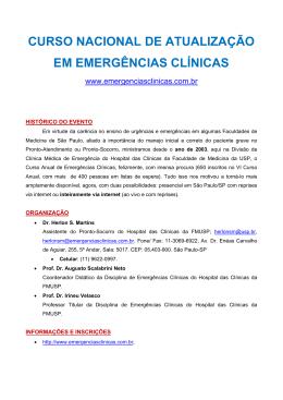 curso nacional de atualização em emergências clínicas