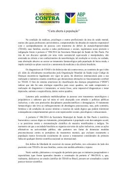 """Carta aberta à população"""