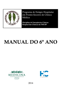 MANUAL DO 6º ANO - Disciplina de Emergências Clínicas FMUSP