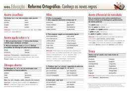 Reforma Ortográfica: Conheça as novas regras