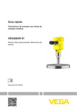 VEGABAR 81 - Sensor slave para pressão diferencial eletrônica
