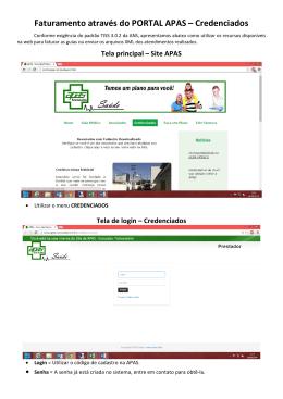 Tutorial Faturamento online - APAS
