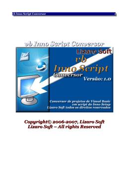 vb Inno Script Conversor v1.0 - Lizaro Soft