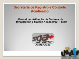 Manual de Utilização - SRCA