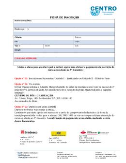 Ficha de inscrição - ortogotardo.com.br