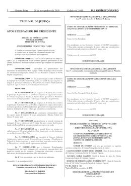 Word Pro - 26112009.lwp - Tribunal de Justiça do Espírito Santo