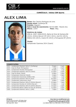 ALEX LIMA - CSR Sports