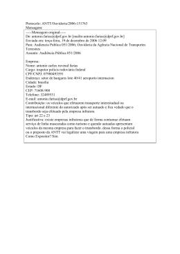 Contribuições recebidas de 19/12/2006 a 17/01/2007