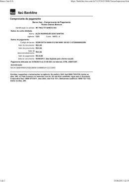 Comprovante de pagamento Banco Itaú S/A https://bankline.itau