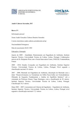 André Cabrera Serrenho, IST Breve CV Informação pessoal Nome