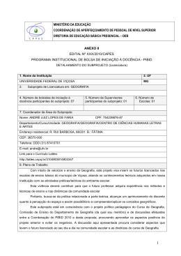 MINISTÉRIO DA EDUCAÇÃO COORDENAÇÃO DE - PRE